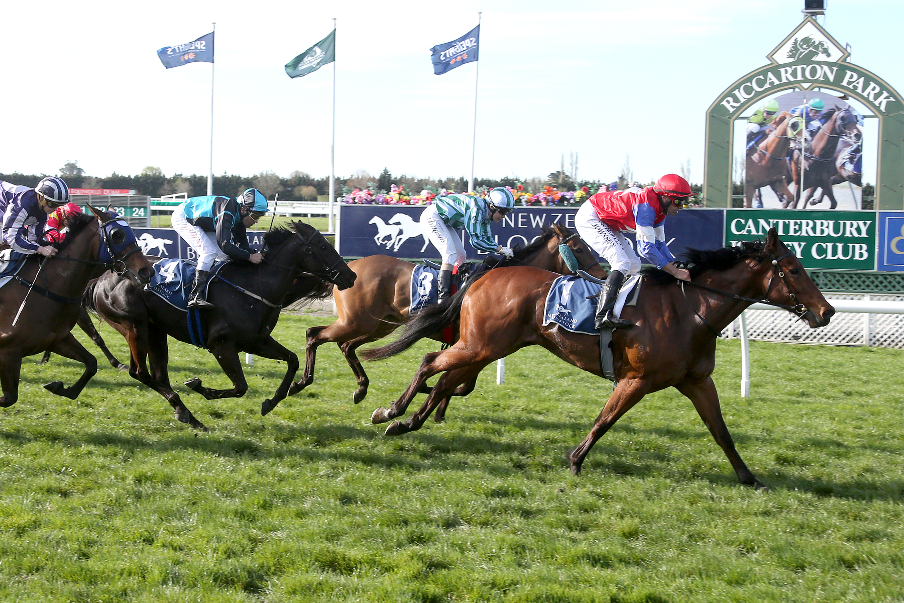 Kiwi Ida wins the Listed Canterbury Belle Stakes in New Zealand.