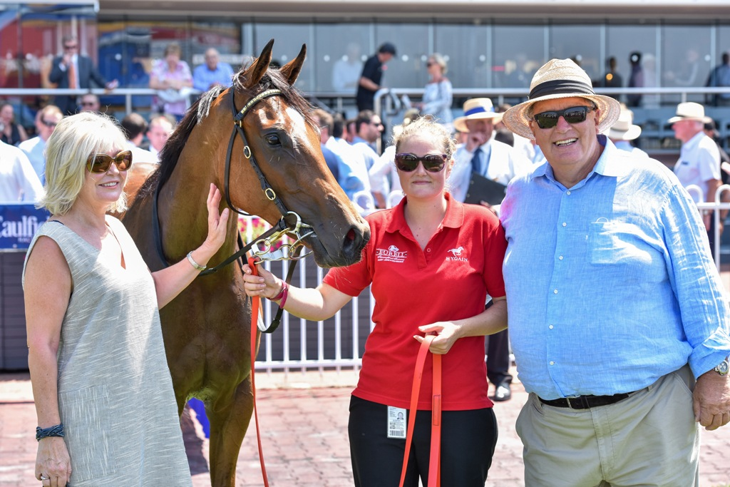 Breeders/owners Paul and Carol King pictured with Lady Horseowner after her win in the Blue Diamond Preview.