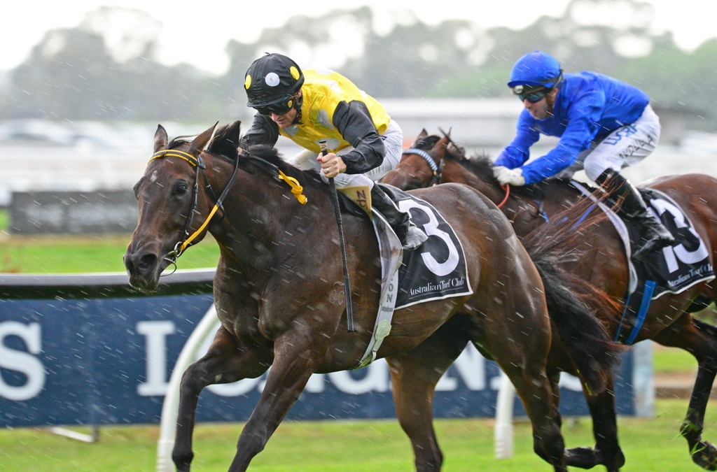 In Her Time wins the Group One Galaxy.