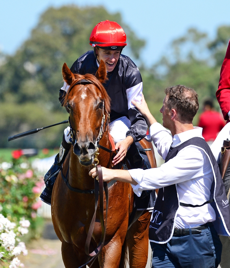 Jordan Childs and Written By return to scale after winning the Pago Pago Stakes.