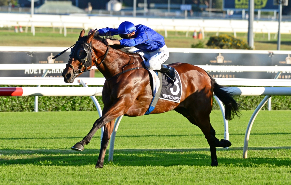Happy Clapper wins the Doncaster Mile at Randwick (Lisa Grimm)
