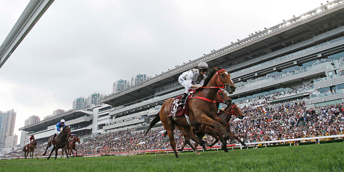 Ivictory wins the Group 1 Chairman's Sprint Prize at Sha Tin (HKJC)
