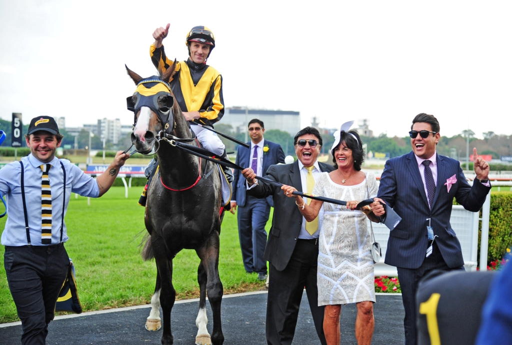 Trapeze Artist returns to scale after winning the All Aged Stakes