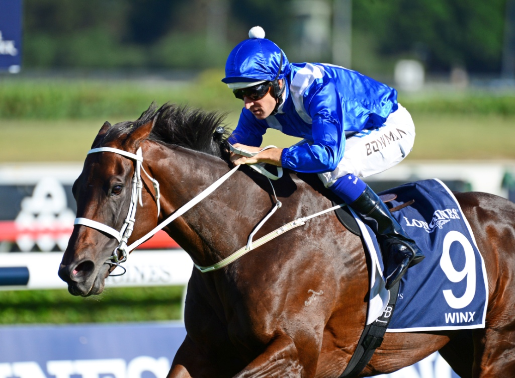 Winx wins the Queen Elizabeth Stakes