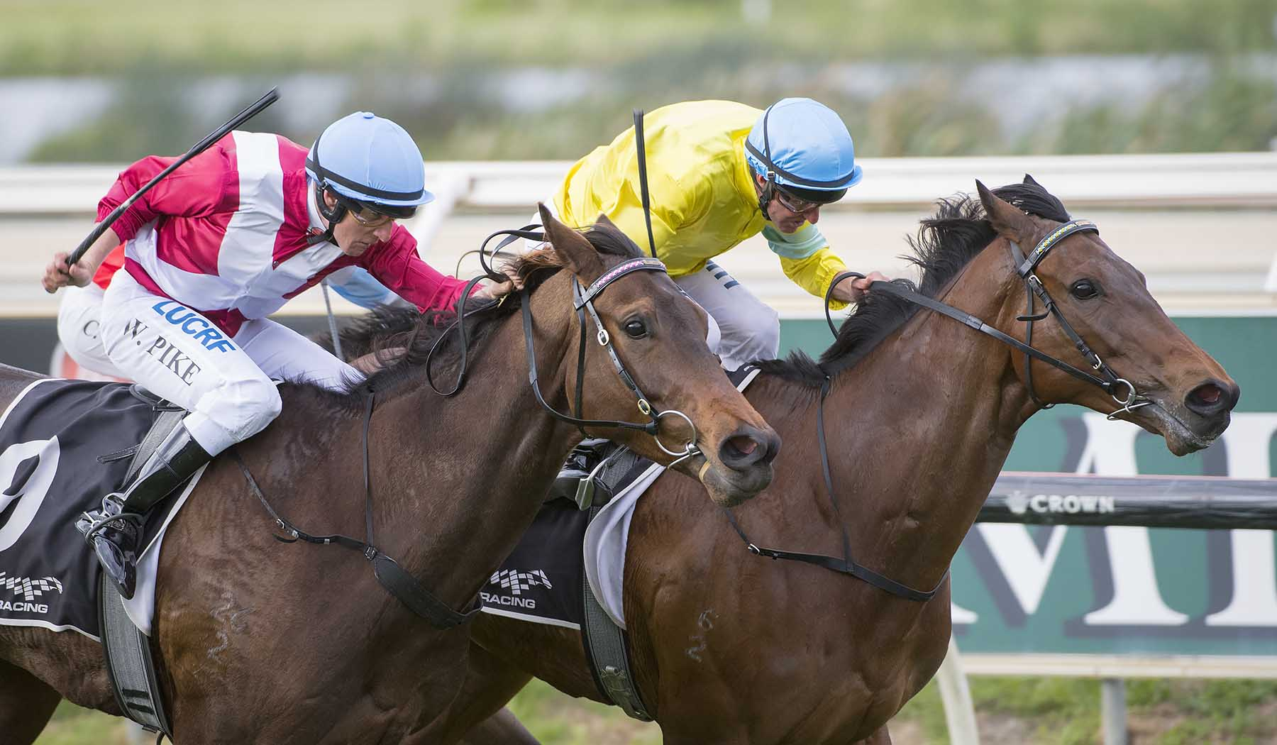 Man Booker fights off Galaxy Star to win the Group Three Crown Perth Northerly Stakes