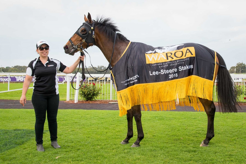 Gatting after winning the Group Two WAROA Lee Steere Stakes