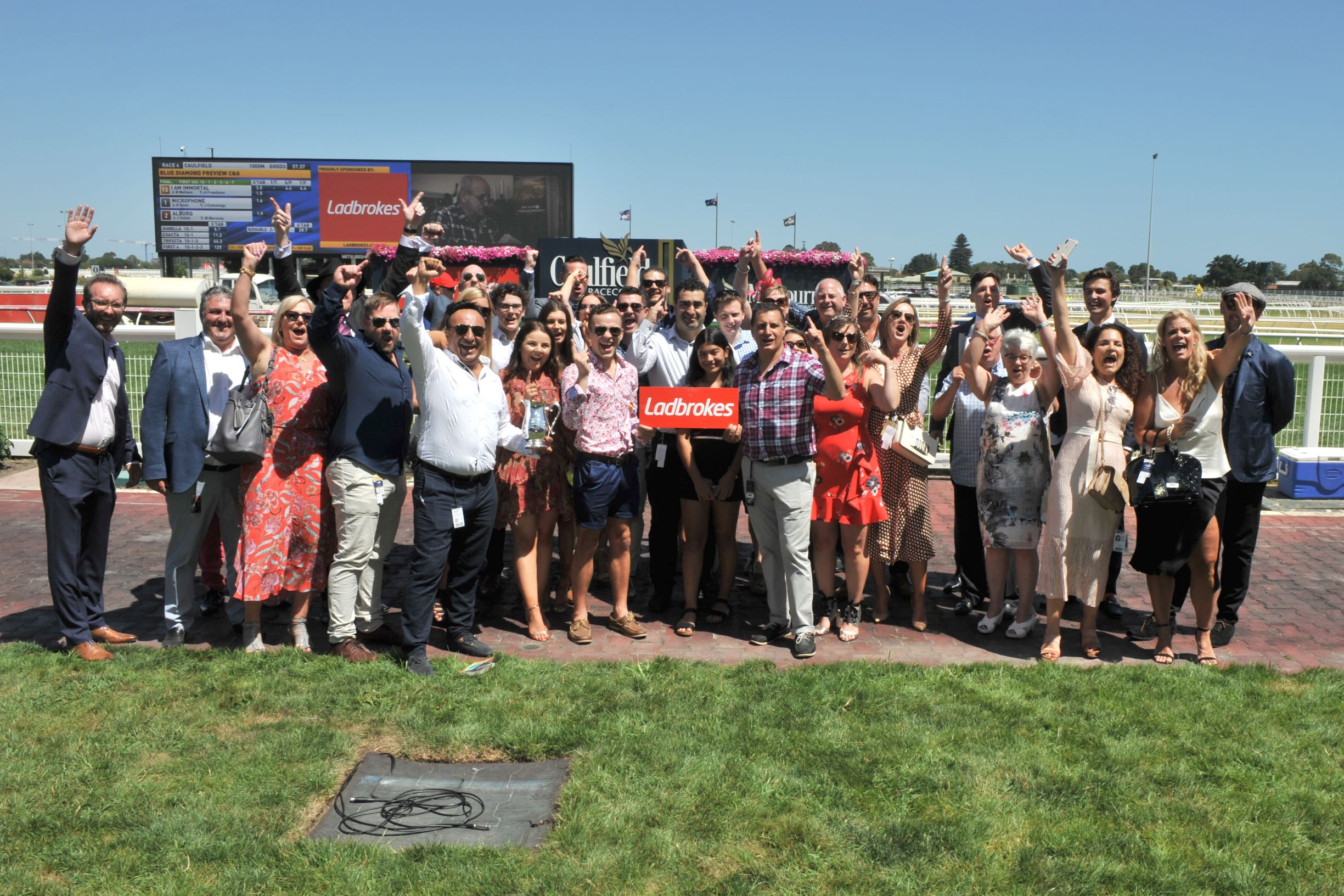 Winning connections of I Am Immortal after winning the Blue Diamond Preview