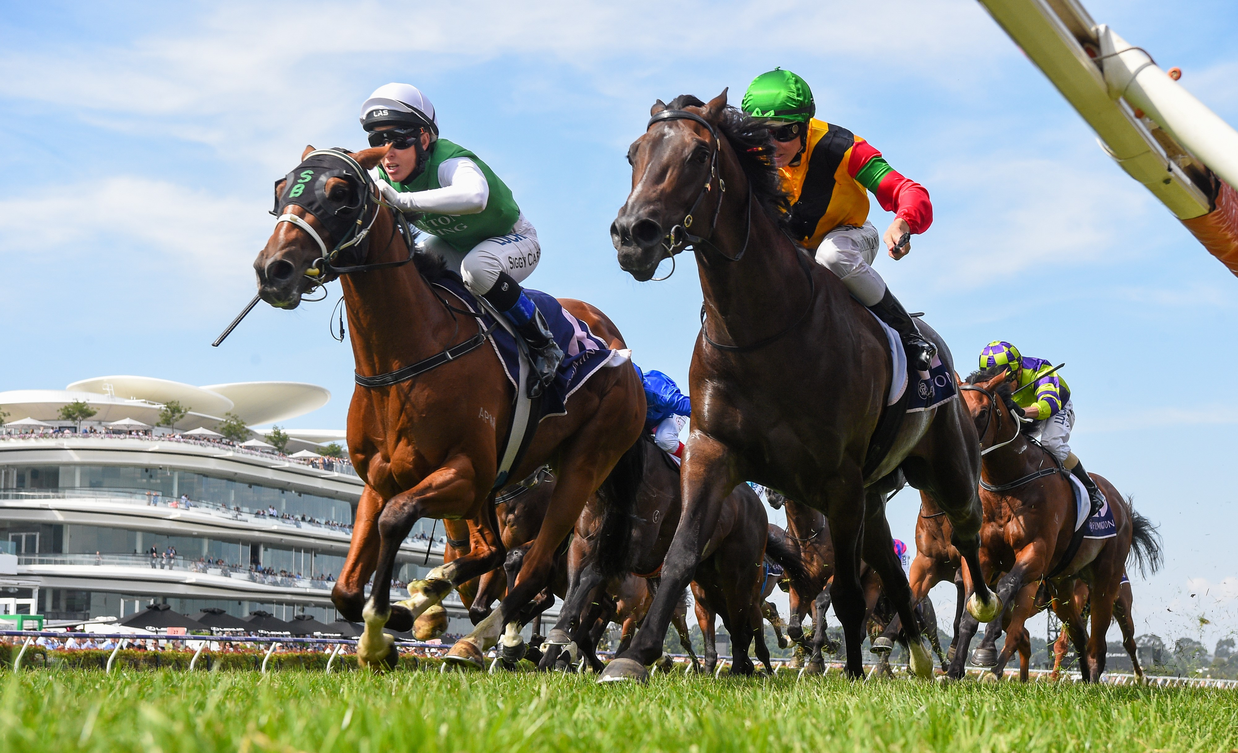The Inevitable fights home to win the Group Three CS Hayes Stakes