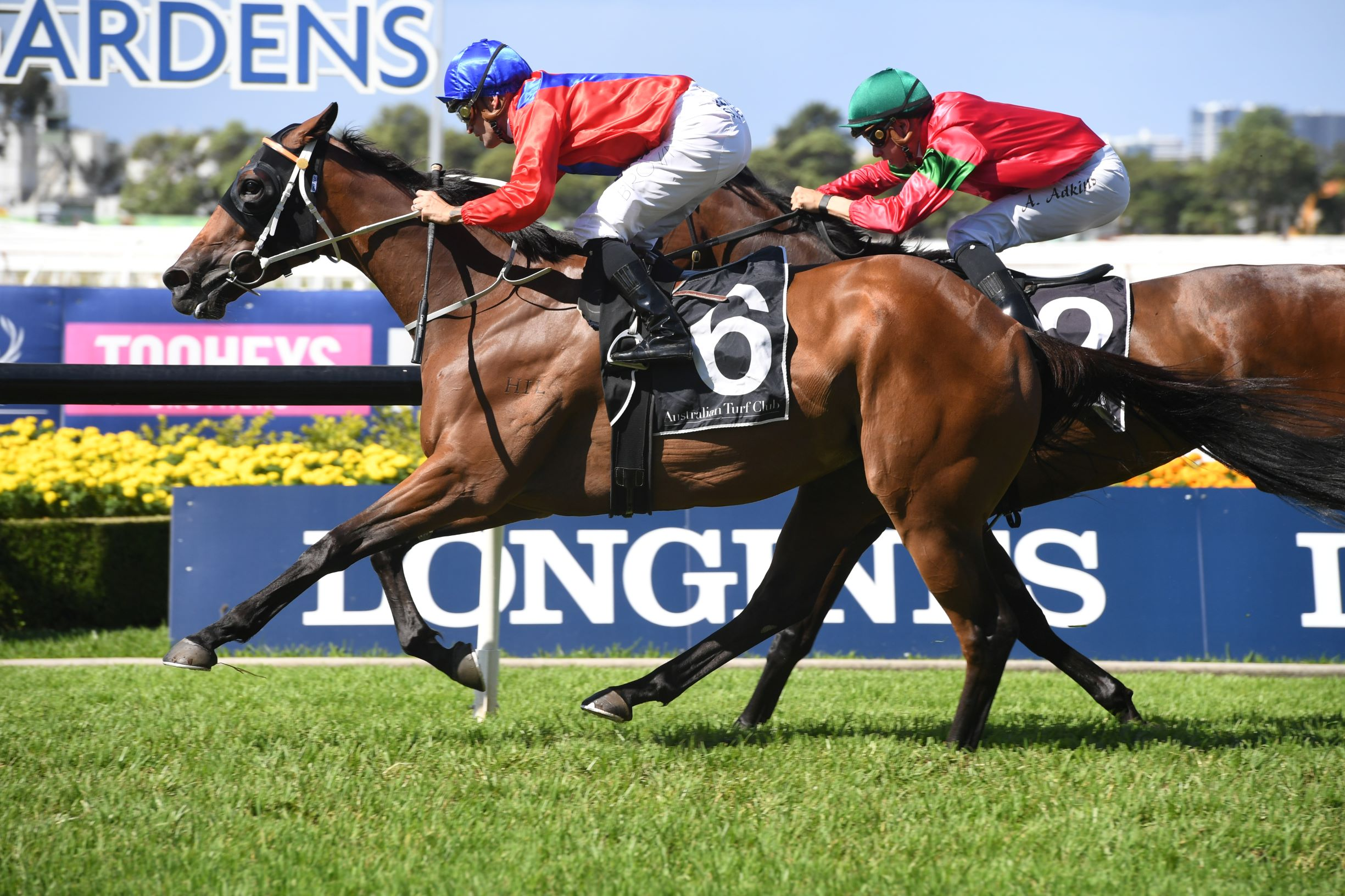Invincible Gem wins the Group Two Emancipation Stakes