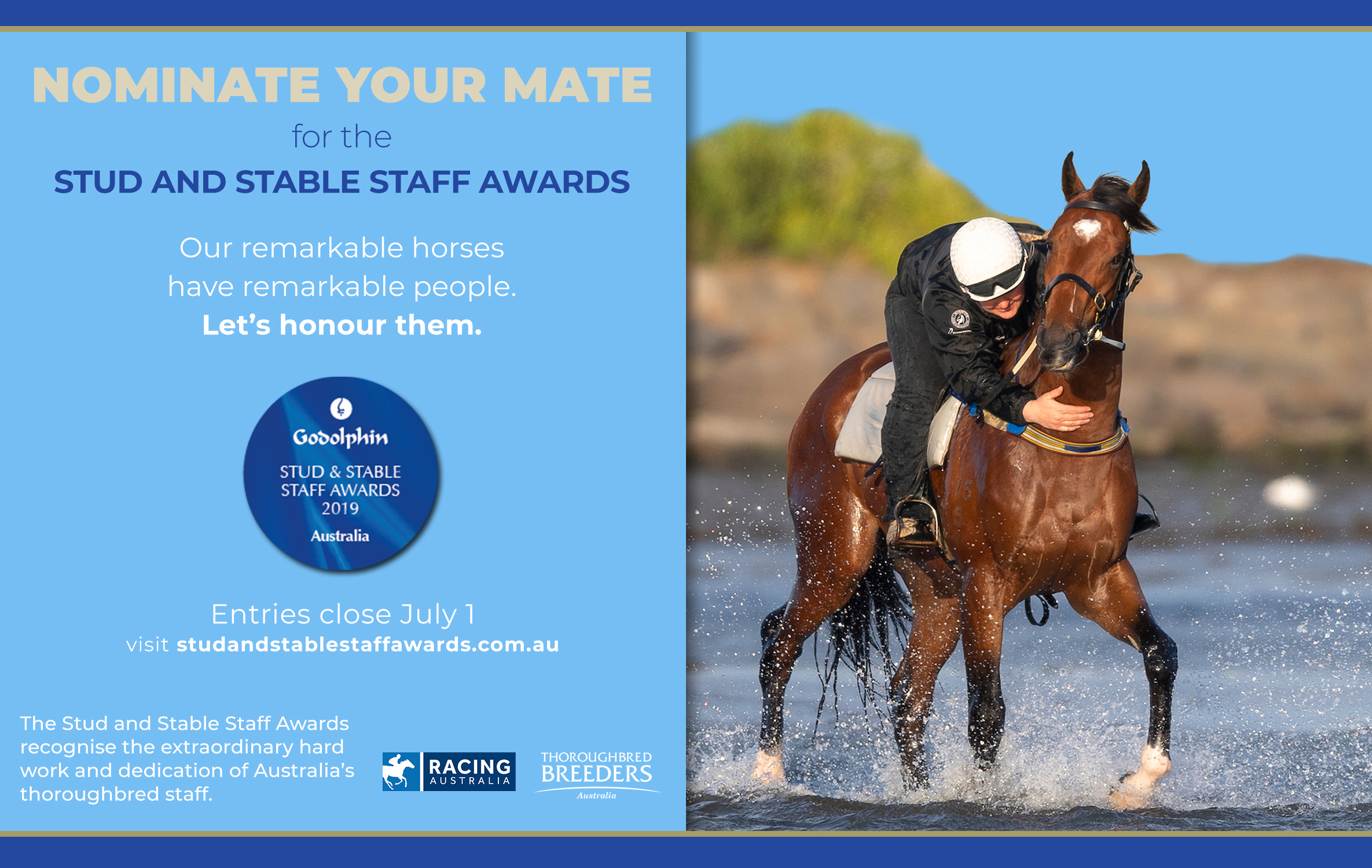 Godolphin Stud and Stable Staff Award nominations are now open