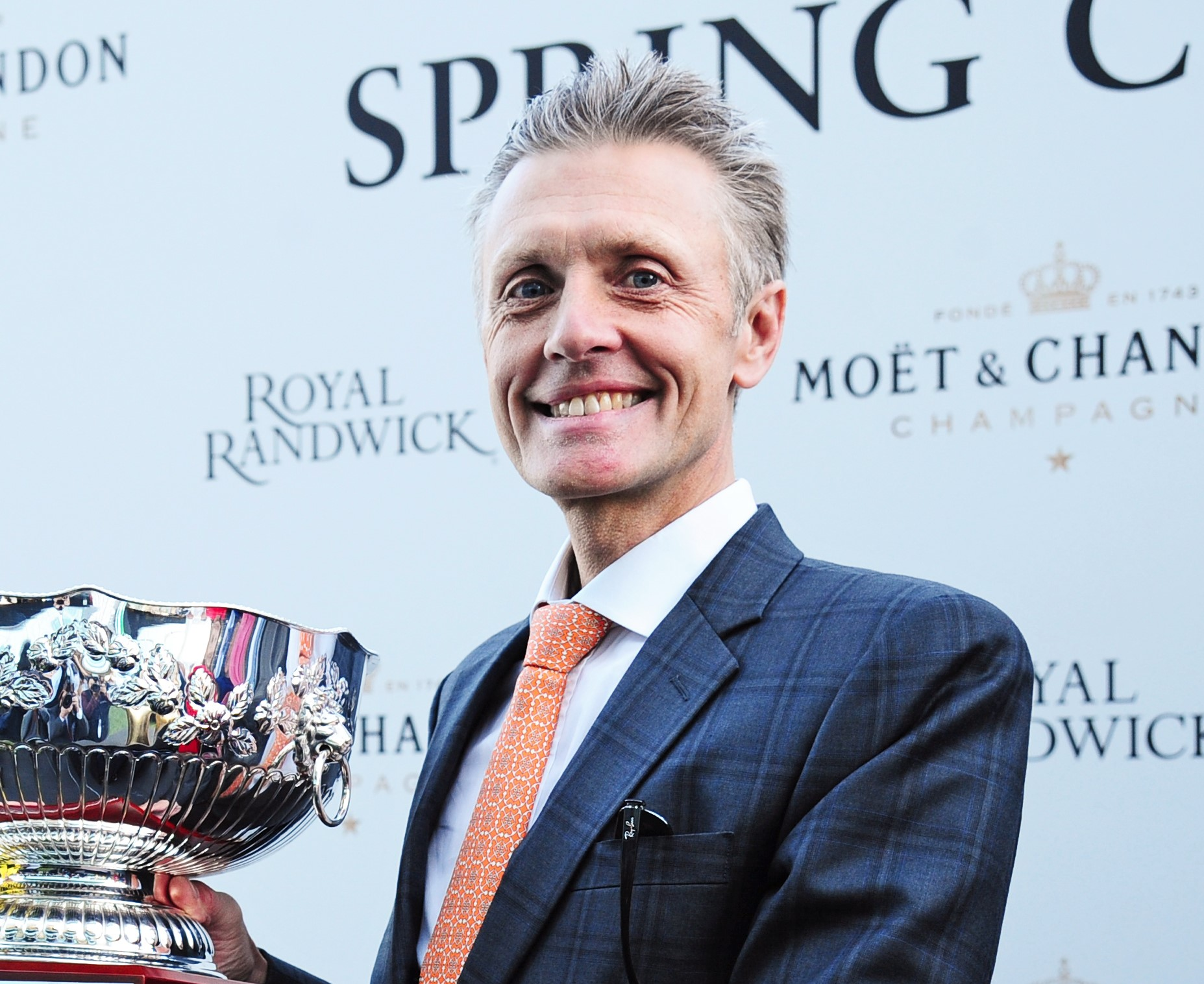 Trainer Mark Newnham after winning the Group One Spring Champion Stakes